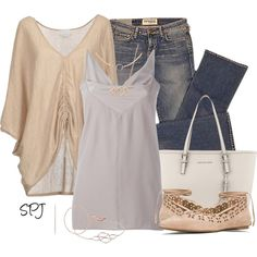 Soft Neutrals by s-p-j on Polyvore featuring polyvore, fashion, style, M.Patmos, Rick Owens, Elizabeth and James, MICHAEL Michael Kors, Monica Vinader, Jessica Simpson and clothing