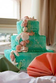 Beach Wedding Cakes www.loveitsomuch.com