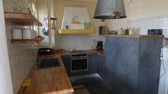 Κουζίνα Segno Cemento Με μασίφ πάγκο σε Old Tuscany ύφος 6.300€