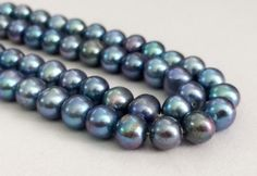 Pearls  Blue Color Pearls Natural Fresh Water by gemsforjewels