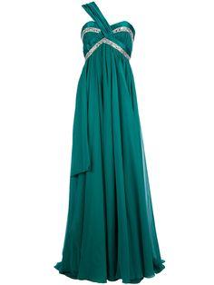 Zuhair Murad: Turquoise Silk Evening Dress