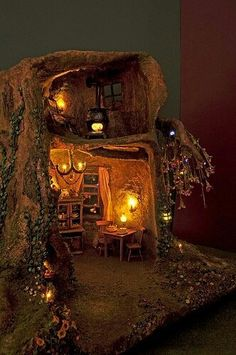 Fairy house with lights!!