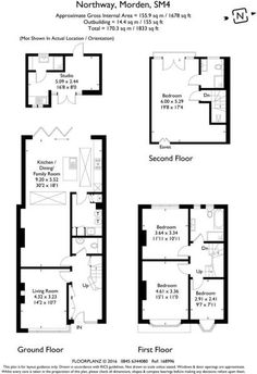 4 bedroom house for sale in Northway, Morden, - Rightmove. Kitchen Extension Floor Plan, 1930s House Extension, Brick Extension, House Extension Plans, House Extension Design, Kitchen Floor Plans, Extension Ideas, Sims 4 House Plans, House Floor Plans