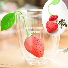 So Cute!! Strawberry Silicone Tea Infuser!
