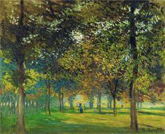 The Allee du Champ de Foire at Argenteuil, 1874 - Claude Monet