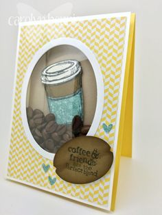 Coffee Bean Shaker Card Video Tutorial