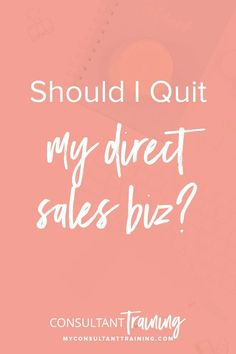 """Should I quit my direct sales biz?"" has probably crossed your mind. Or, you've likely had teammates on the fence between staying and going, spending countless hours debating whether it is worth it and if they can muster up the strength to continue. Trust me, I get it. Visit the link to know more.#directseller #directsales #directsalestips"