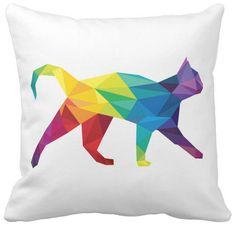 Funda colchon decorativa  geométrico gato. #Cat #Home #Deco #Design #Diseño #Hechoamano #Handmade #DaWanda