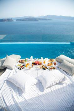 Breakfast served at Astarte Suites Hotel in Santorini
