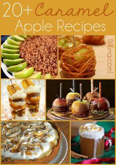 20+ Caramel Apple Recipes! So many delicious recipes for fall festivites!! { lilluna.com }