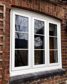 Residence 9 Window we installed in Lymm - The perfect choice for this property. Porch Windows, Cottage Windows, Front Windows, Casement Windows, Floor To Ceiling Windows, House Windows, Facade House, Windows And Doors, Window Grill Design Modern