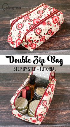 Diy Bags Purses, Small Sewing Projects, Pouch Bag, Pouches, Pouch Pattern, Bag Patterns To Sew, Fabric Bags, Toiletry Bag, Sewing Tutorials