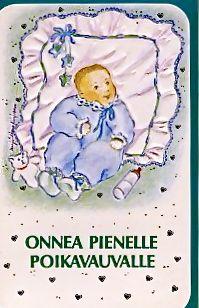 Kaksiosainen painettu kortti. Kuva: © Marja-Leena Kirjonen