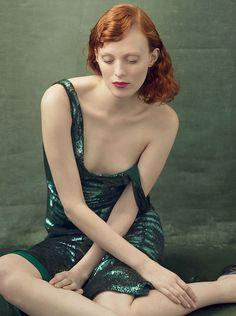 Karen Elson by Annie Leibovitz for Vogue US August 2014