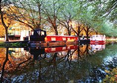 Barges, Grand Canal, Dublin by Martin Baker photography Grand Canal, Dublin, Irish, Spaces, House Styles, Photography, Home Decor, Homemade Home Decor, Fotografie