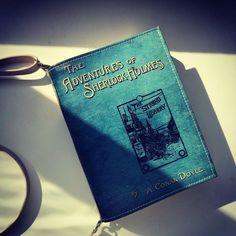 The Adventures of Sherlock Holmes #bookbag by #krukrustudio #sherlockholmescosplay #sherlock #sherlockholmes #bookpurse #leatherbag…