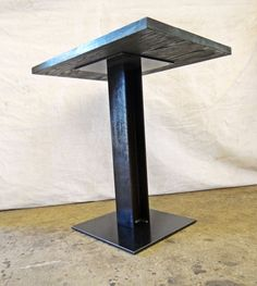 Pedestal table bases ready to order. This size is for a 24 x 24 table top, or around that size. Perfect for restaurants, cafes, or it can be customized for any use. CONTACT FOR SHIPPING COSTS Discount for bulk orders!  Contact for customization.