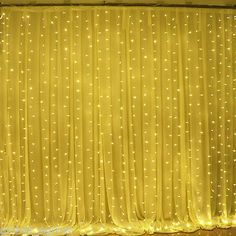 Solla Curtain Lights 600 LEDs Window Curtain Icicle Lights LED String Fairy Lights Linkable Design, 8 Modes,Warm White, Window Lights for Indoor Bedroom/Wedding/Party/Christmas Desi Wedding Decor, Wedding Stage Decorations, Backdrop Decorations, Backdrops, Holiday Decorations, Backdrop Ideas, Seasonal Decor, Marriage Decoration, Backdrop Design