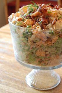 Never trust a skinny cook....: salads