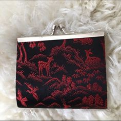 Black & red Chinese brocade print coin purse NWOT Brand new without tags coin purse Bags Wallets