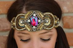"Luna Boutique - ""Mercedes"" Pink Pewter Headband, $60.00 (http://www.shoplunaboutique.com/mercedes-pink-pewter-headband/)"
