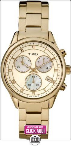 Timex T2P159AU - Reloj analógico de cuarzo para mujer, correa de acero inoxidable color dorado  ✿ Relojes para mujer - (Gama media/alta) ✿ ▬► Ver oferta: http://comprar.io/goto/B00CU5VH1Y