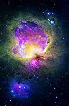 GreatOrionNebula. Optical image of the emission nebulae M42