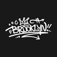 Brooklyn Graffiti - Graffiti - T-Shirt Easy Graffiti Drawings, Graffiti Doodles, Graffiti Tattoo, Graffiti Designs, Graffiti Styles, New York Graffiti, Graffiti Murals, Street Art Graffiti, Hip Hop Tattoo