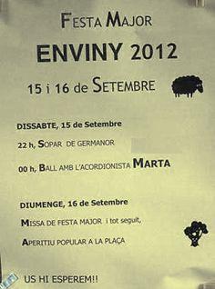 El blog de P.S.: Go!: Festa Major Enviny 2012