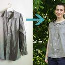 Paso 0: Upcycle camisa de Los Hombres En Una blusa Retro Summer
