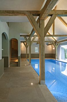 Luxus-Hallenbad im Landhausstil Source by The post Luxus-Hallenbad im Landhausstil appeared first on Swimming Pool House, Small Swimming Pools, Swimming Pool Designs, Rural House, Barn House Plans, Country House Interior, Building A Pool, Courtyard House, Villa