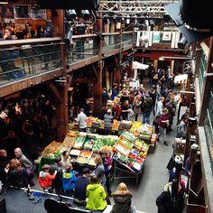 Marktzeit in Ottensen, Altona, Hamburg, Germany. It's time for a market. amodini fairtrade
