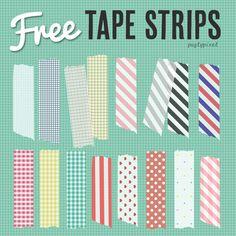 Freebie: Washi Tape Strips (Patterns) | [ One Velvet Morning ]