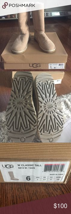 BRAND NEW UGGS BRAND NEW classic tall uggs in sand UGG Shoes Ankle Boots & Booties