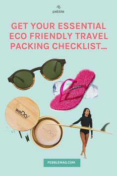 Want tips to make your next trip more sustainable? You need our sustainable travel packing list. Whether you are striking out for an eco travel adventure or on a staycation closer to home our sustainable travel kit essentials is for you. Including ethical sunglasses, reusable food wraps, swimwear made from recycled plastic, and sustainable flip flops. Head over for your essential travel packing checklist... Travel Packing Checklist, Travel Essentials, Un Sustainable Development Goals, Reusable Food Wrap, Travel Kits, Summer Travel, Staycation, Adventure Travel, Closer
