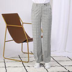 Maje Pantalon Picardo ample élastiqué à carreaux