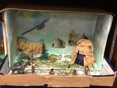 4th grade Indian tribe diorama. Craft Projects For Kids, Science Projects, Diaroma Ideas, Shoe Box Diorama, Diorama Supplies, Native American Projects, Indian Project, Cherokee Tribe, Social Studies Projects