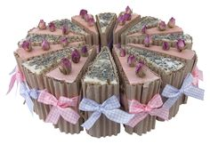 Lavender & Rose Geranium Soap Slices ~ Neat, pretty & Cool
