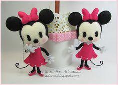 Felt Minnie Mouse handmade by Gracinhas Artesanato