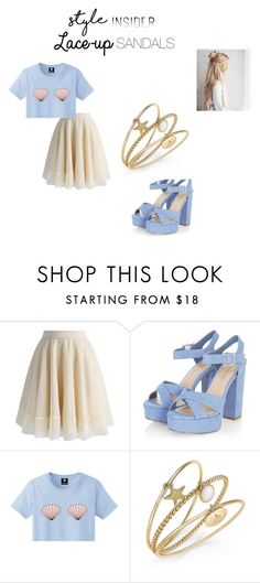 """""""Untitled #34"""" by mh-1604482 on Polyvore featuring Chicwish, Charter Club, contestentry, laceupsandals and PVStyleInsiderContest"""