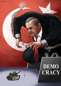 Art by Daniel Garcia - Erdogan (cartoon, illustration, turkey, coup, revolution,turkiye, hukumet darbesi, purge)