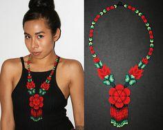 Collar y Aretes Huichol