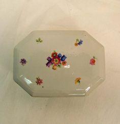 Vintage Porcelain Boxes | Vintage Antique German Porcelain Jewelry Box