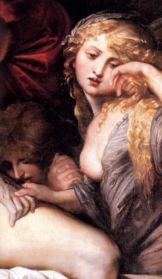 The Deposition (detail of Mary Magdalene) by Peter Paul Rubens, 1602.
