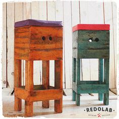 Pallet stool #Design, #Ecodesign, #Pallet, #Recycle, #Redolab, #Reuse, #Riciclo, #Riuso, #Sgabello, #Stool, #Wood