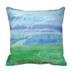 The Calm Before Watercolor Pillow