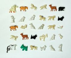 vintage plastic charms by lisa congdon. I remember these--theycame in little plastic capsules in gum machines :)