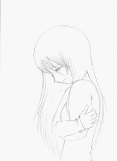 anime girl crying crossed arms [sketch] by Little-Fangirlx