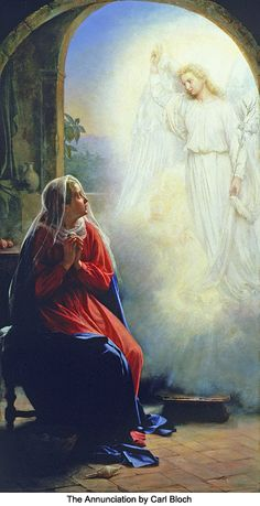 Hail Mary, full of grace - The Annunciation by C H Bloch