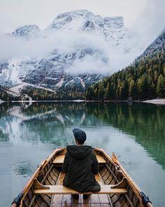 Misty mornings on the lake Lago di Braies Niklas Kiesling